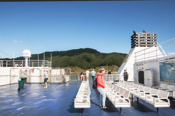 The top deck was a favorite spot for sunbathing.