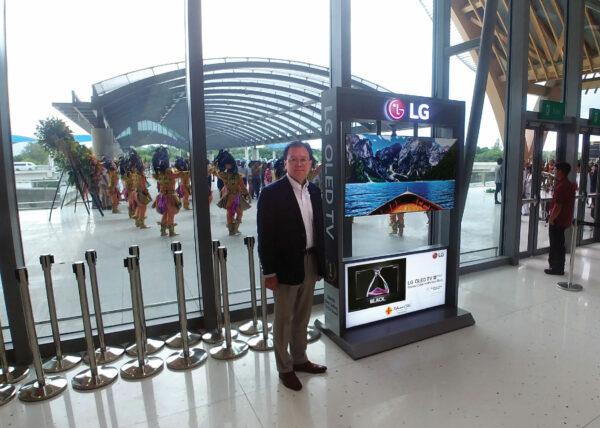 OLED TV at Mactan Cebu Airport