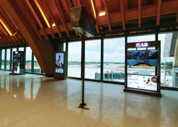 OLED TV at Mactan Cebu International Airport