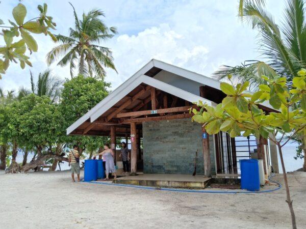 Shower Room - Facilities in Kalanggaman Island