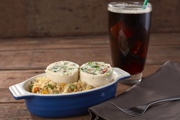 Soud Vide Egg White with Couscous and Quinoa