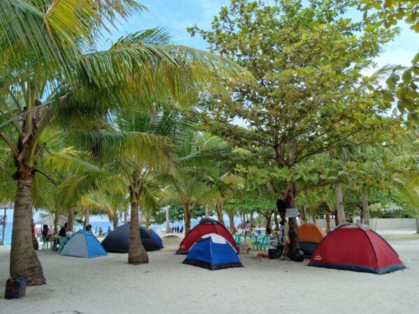Tent Pitching Area in Kalanggaman
