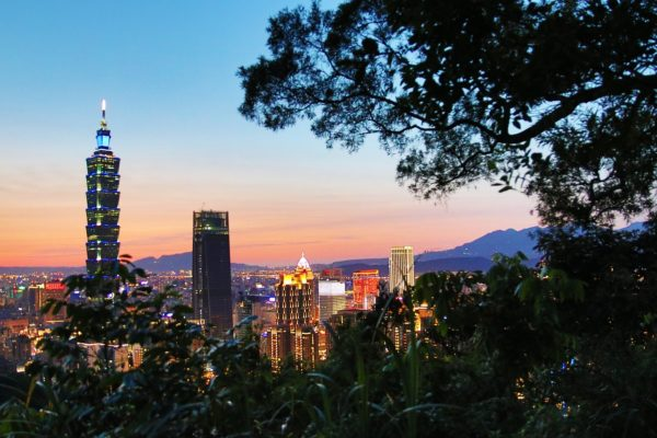 View from Elephant Mountain in Taipei