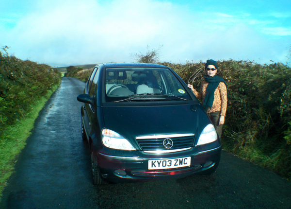 We drove for miles in these isolated narrow lanes without meeting anyone.