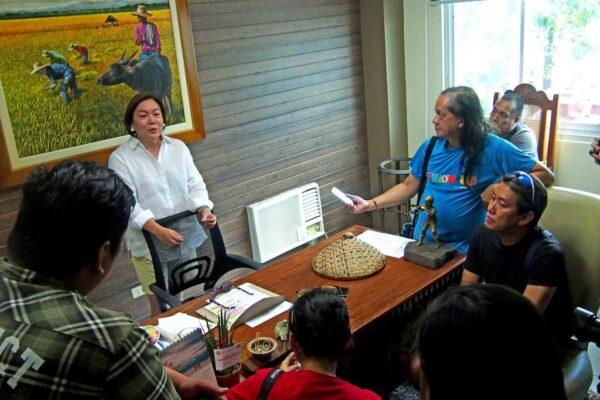 courtesy visit at the office of Mayor Maritz Ochoa Montejo