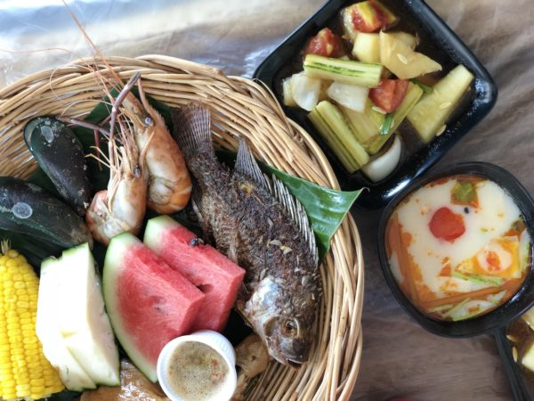 seafood lunch at Samae Beach, Ko Laan
