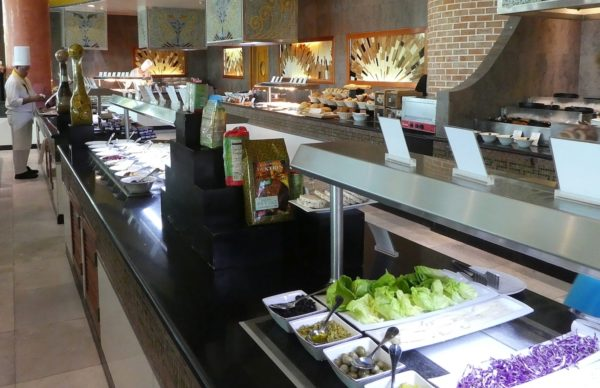 A small part of the breakfast buffet