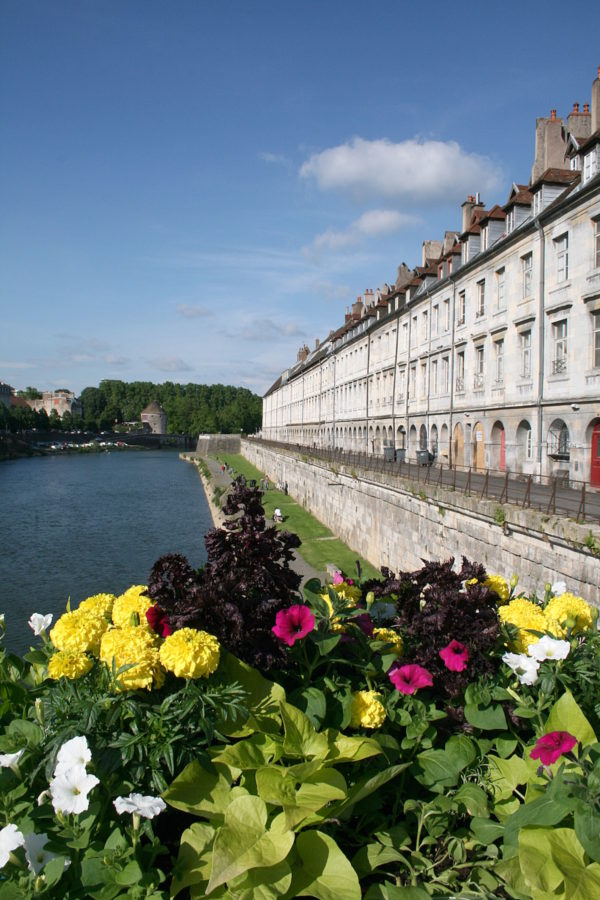 Besancon The Doubs and the Quai Vauban seen from the Pont Battant. photo via Wikipedia Commons