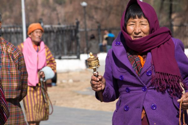 Bhutanese visiting the Temple