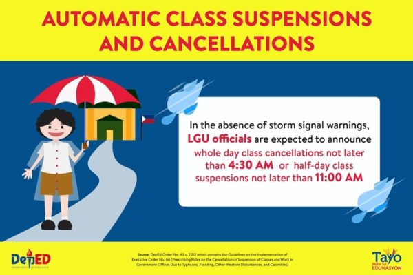 DepEd Advisory on Class Suspensions