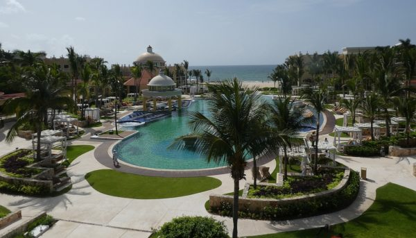 From the balcony overlooking the back half of the Iberostar Grand Paraiso