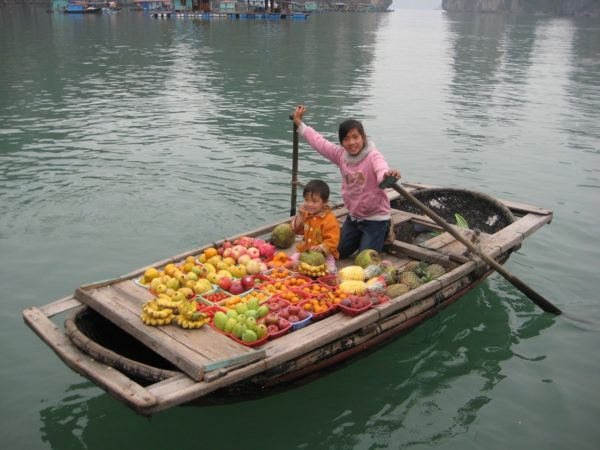 Fruit Vendors in Halong Bay