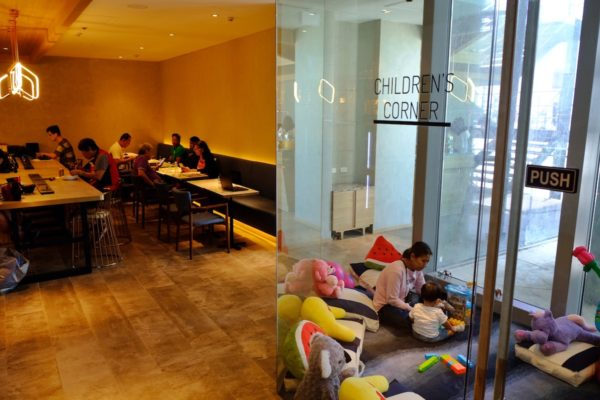 Kids Corner at the Plaza Premium Lounge