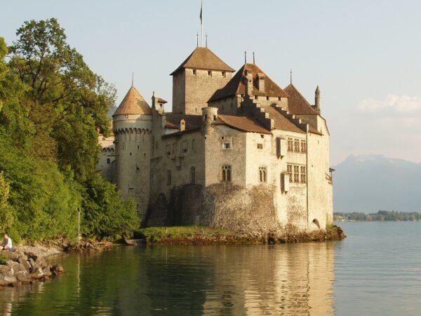 Lake Lausanne in Switzerland