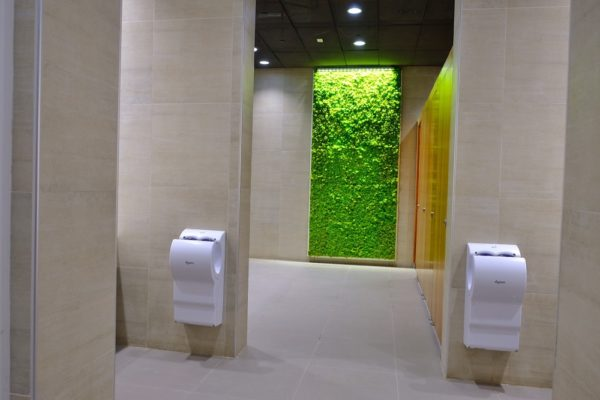 Moss Walls at T2 washrooms