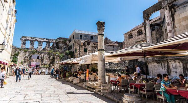 Old Town in Split Croatia