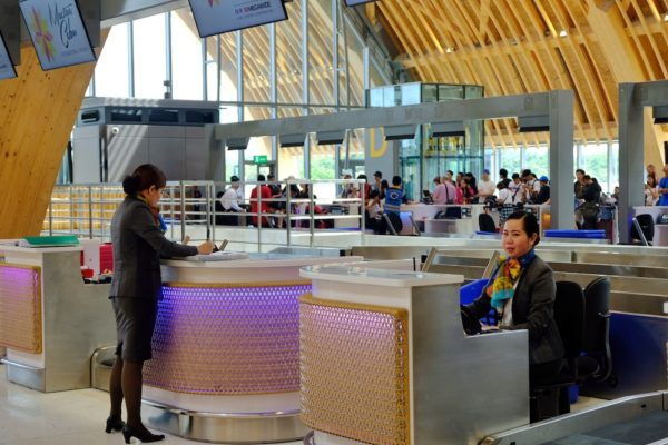 Resort themed Check-in Counters