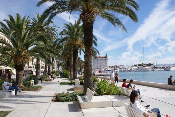 Riva seafront promenade in Split