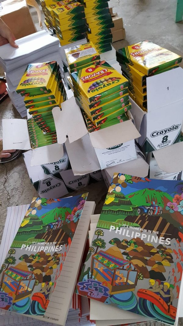 School Supplies distributed to kids of Cambulo Village in Banaue Ifugao