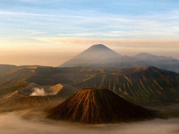 Volcano in Java Indonesia