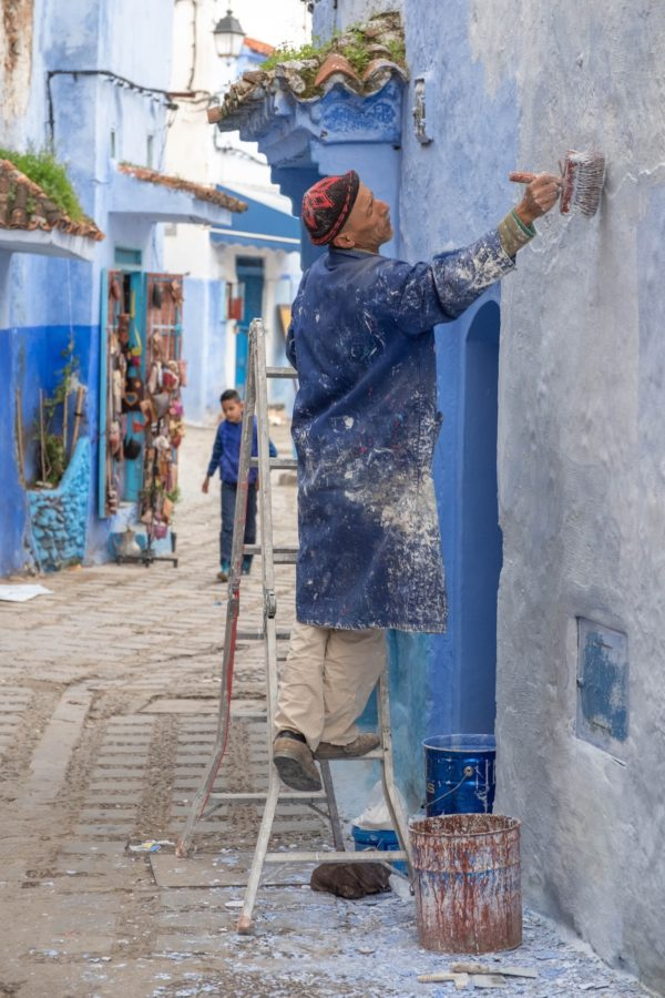 Blue Neighborhood of Chefchaouen by Raul Cacho Oses via Unsplash