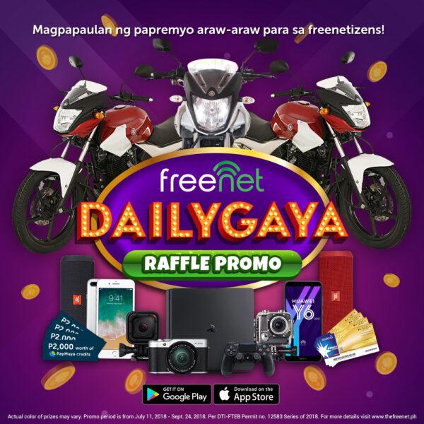 Dailygaya Raffle Promo by Freenet