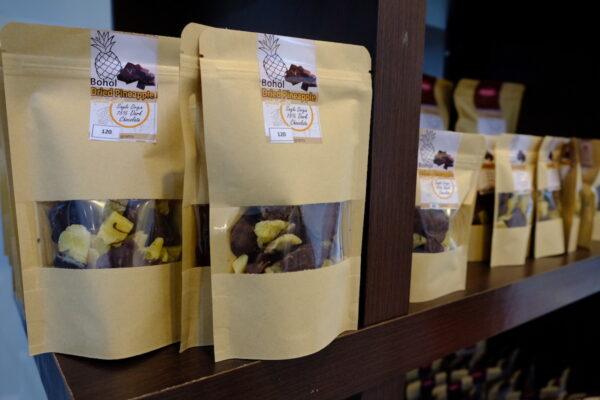 Dark Chocolate Coated Bohol Dried Pineapple