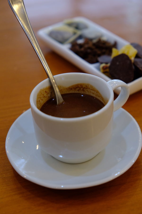 Hot Chocolate made from localy produced Tablea