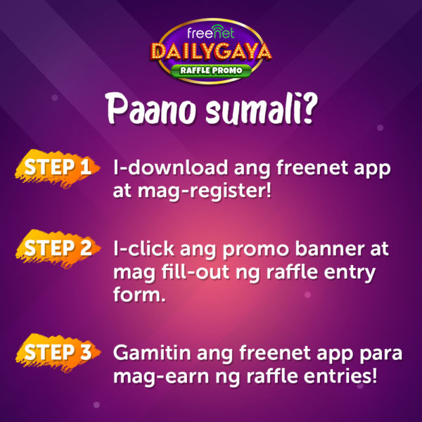 How to Join DailyGaya Raffle Promo by Freenet