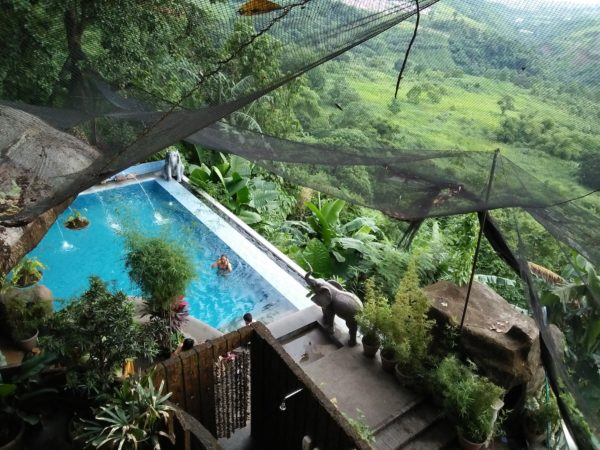 Infinity pool at Luljettas Hanging Gardens and Spa Quick Weekend Getaway in Antipolo
