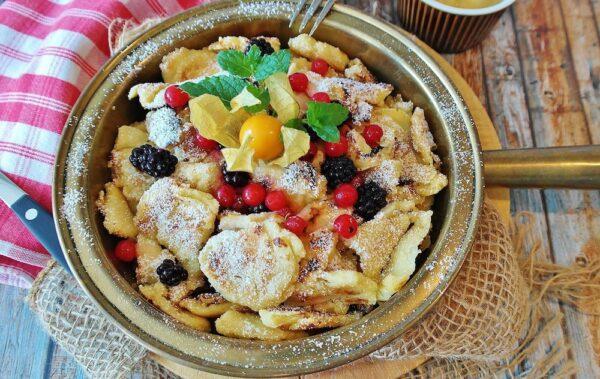 Kaiserschmarrn or Kaiserschmarren is a shredded pancake