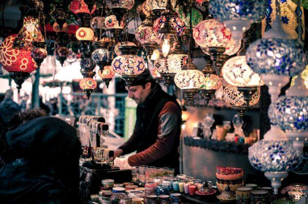 Marrakech Bazaar by Wei Pan via Unsplash Best Things to Do in Morocco