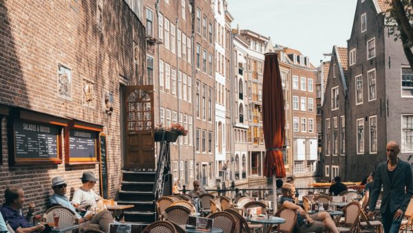 Outdoor Cafe in Amsterdam photo by Ian Valerio via Unsplash