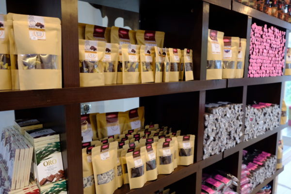 Products displayed at Dalareich Chocolate House in Tagbilaran City