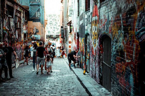 Street Art in Melbourne, Australia by Annie Spratt via Unsplash
