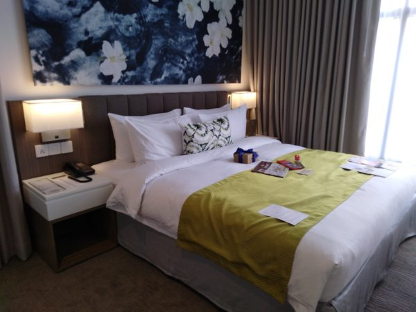 The bedroom, with its ultra-comfy bed