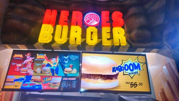 Cheap but delicious Heroes Burger at the booth