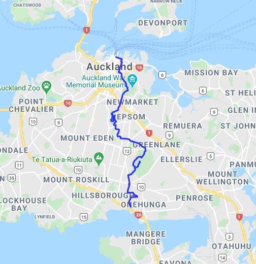 Google Maps Auckland Coast-to-Coast Walkway - Google My Maps