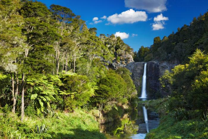 Hunua Falls, New Zealand photo via Depositphotos