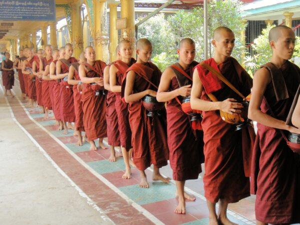 Monk Monastery in Bagan