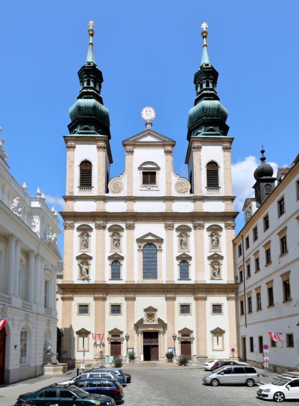 The Jesuit Church in Vienna by Bwag via Wikipedia CC
