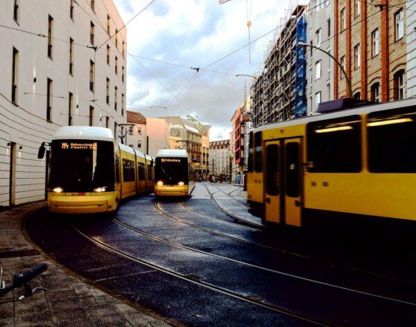 Tram in Berlin by Yaoqi Lai via Unsplash