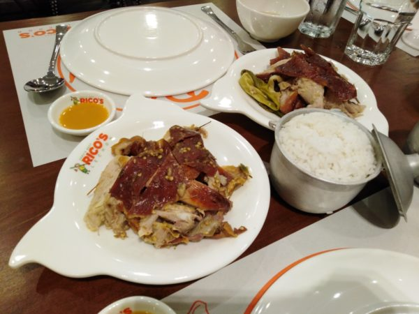 A dish of Spicy and Regular Lechon