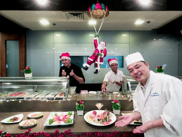 Chef Hiro is your welcoming Santa in this Season of Hope! Kitsho Restaurant and Sake Bar preps up for the holiday season
