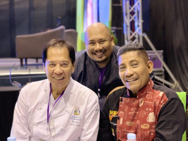 Chefs Sandy Daza, Tatung Sarthou, and Boy Logro