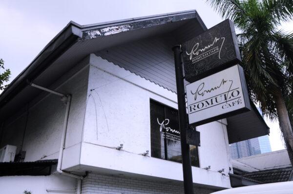 Facade or Romulo Cafe Makati
