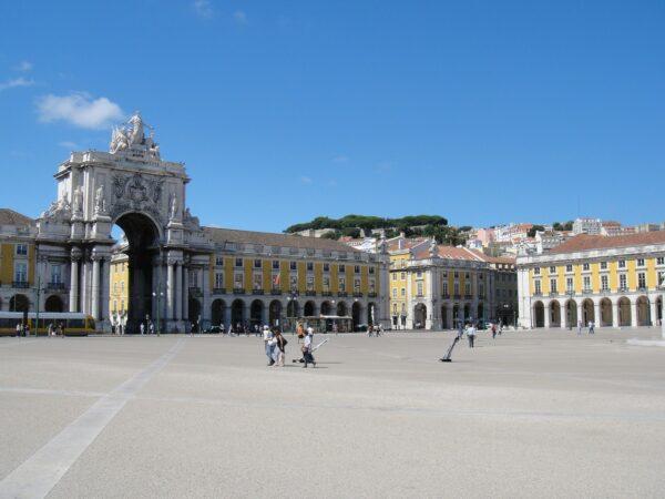 Plaza in Lisbon Portugal