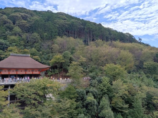 The Main Hall in Kiyomizu-dera Temple