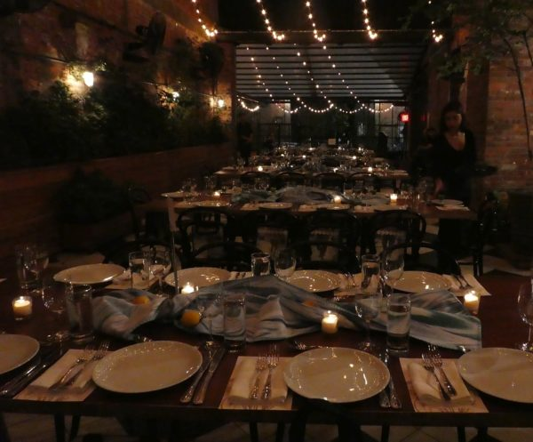 The private dining room at the Wythe Hotel
