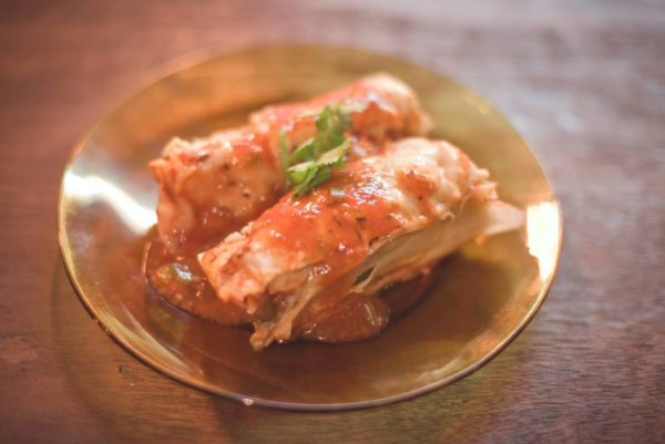 spinach lasagna with creamy vegan bechamel sauce by Keith Dador